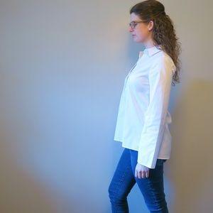 [WHBM] Poplin Popover Shirt 4